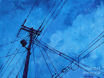 Painting - Lunchtime Telephone Pole by Michael Ciccotello