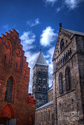 Lund Cathedral Hdr 02 Art Print by Antony McAulay
