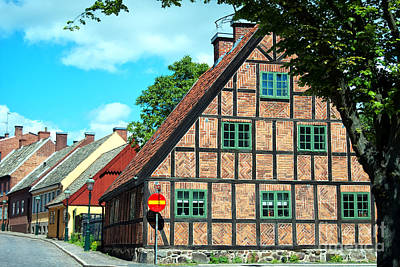 Lund Old Building 02 Print by Antony McAulay