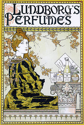 Photograph - Lundborgs Perfumes 1894 by Louis John Rhead