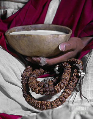Photograph - Lundup Dorje With Skull Cup - Tibet by Craig Lovell