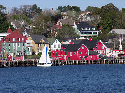 Photograph - Lunenburg Harbor by Robert Lozen