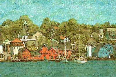 Painting - Lunenburg Nova Scotia Canada by Art America Gallery Peter Potter