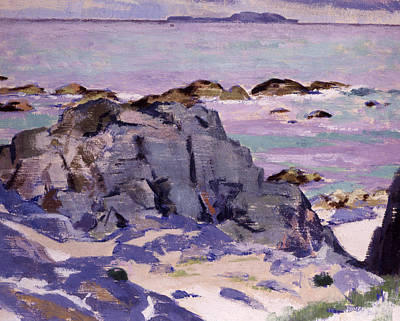 Cloudy Day Painting - Lunga From Above Mermaids by Francis Campbell Boileau Cadell