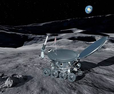 Hi-tech Photograph - Lunokhod 1 On The Moon by Detlev Van Ravenswaay