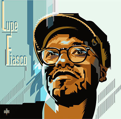 Jazz Royalty Free Images - Lupe Fiasco Portrait Royalty-Free Image by Garth Glazier