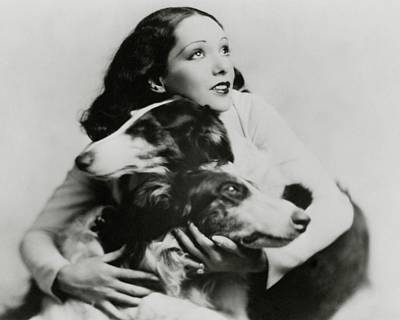 Lupe Velez With Dogs Art Print