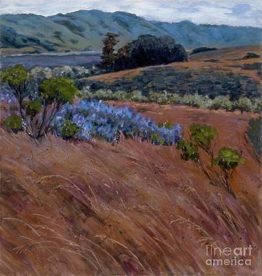 Painting - Lupine In The Grass by Betsee  Talavera