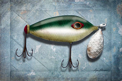 Aged Wood Digital Art - Lure I by April Moen