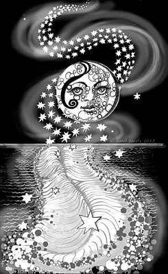 Digital Art - Lure Of Moonlight by Carol Jacobs