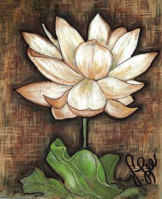 Painting - Lure Of The Lotus by VLee Watson