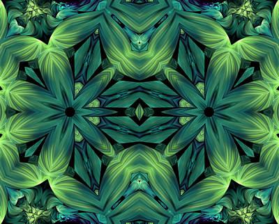 Poetic Digital Art - Luscious Greenery by Georgiana Romanovna