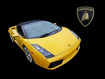 Photograph - Luscious Lemon Lamborghini by Gill Billington