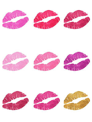 Lips Digital Art - Luscious Lips by Sd Graphics Studio