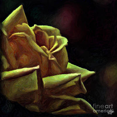 Painting - Luscious Yellow Rose by Walt Foegelle