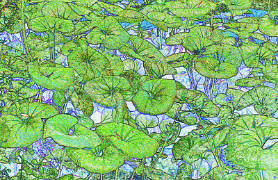 Mystical Landscape Painting - Lush by David Lee Thompson