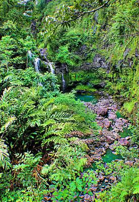 Photograph - Lush Waterfall by Jane Girardot