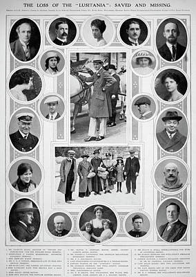 Photograph - Lusitania Passengers by Granger
