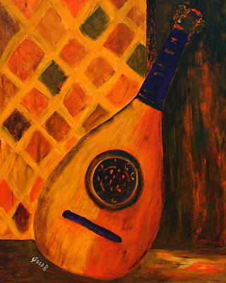 Still Life Painting - Lute By The Window  by Oscar Penalber