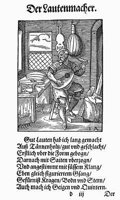 Lute Maker, 1568 Art Print by Granger