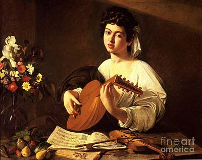 Caravaggio Painting - Lute Player by Celestial Images