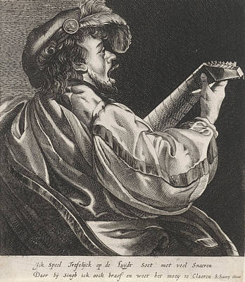 Lute Drawing - Lute Playing Man, Hendrick Ter Brugghen, Salomon Savery by Artokoloro