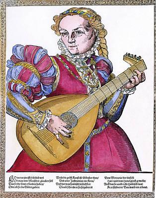 Lutenist, 16th Century Art Print by Granger