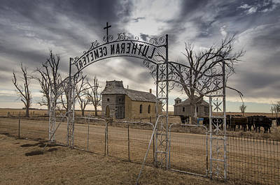 Abandoned School House Photograph - Lutheran Cemetery Entrance by Chris Harris