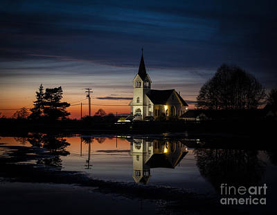 Lutheran Sunset Print by Mike Reid