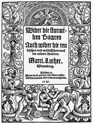 Lutheran Title Page, 1525 Art Print