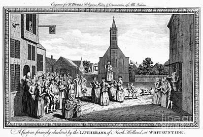 Pentecost Photograph - Lutheran Wedding, 1700s by Granger