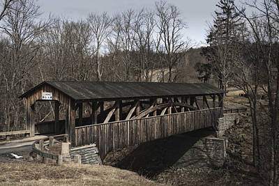 Luther's Mill Covered Bridge Art Print