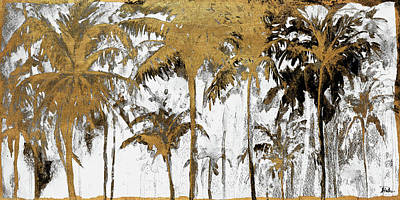Palm Mixed Media - Luxe Palms I by Patricia Pinto