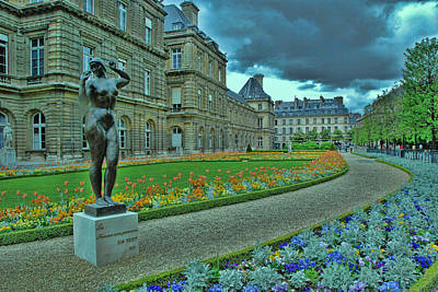 Photograph - Luxembourg Gardens by Allen Beatty