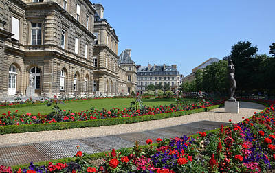 Luxembourg Palace In Paris Print by RicardMN Photography