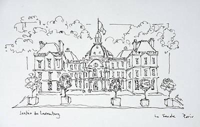 Luxembourg Palace, Rue De Vaugirard Art Print