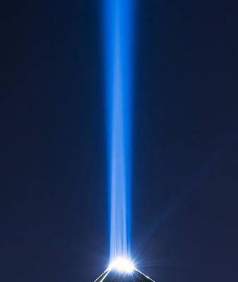 Photograph - Luxor Sky Beam by Nicholas Blackwell