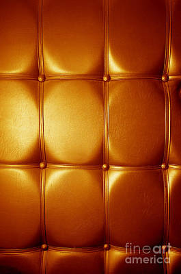 Background Photograph - Luxury Genuine Leather. Golden Color by Michal Bednarek