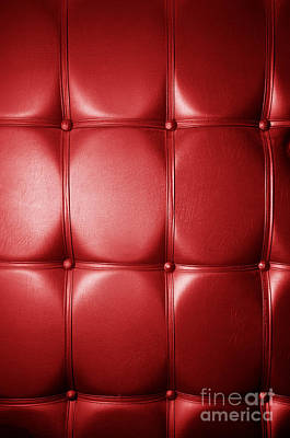 Luxury Genuine Leather. Red Color Art Print by Michal Bednarek