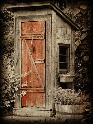 Old Wood Outhouse Photograph - Luxury Outhouse by Brenda Conrad
