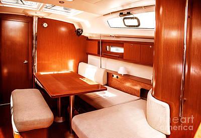 Photograph - Luxury Ship Interior by Anna Om
