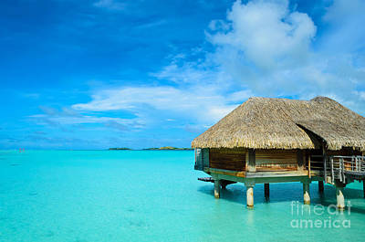Photograph - Luxury Thatched Roof Over-water Bungalow by IPics Photography