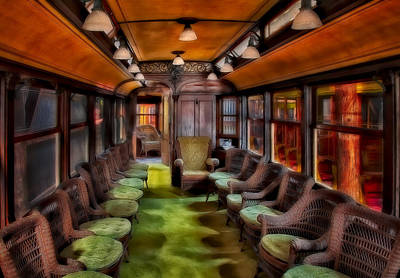 Photograph - Luxury Trolley Train by Susan Candelario