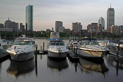 Luxury Yachts Of Boston Art Print