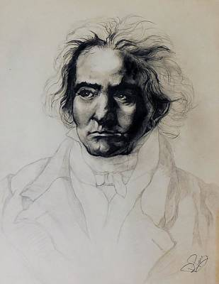 Painting - L.v. Beethoven by Raymond Perez