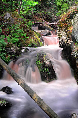 Waterfall Wall Art - Photograph - Lwv60011 by Lee Wolf Winter