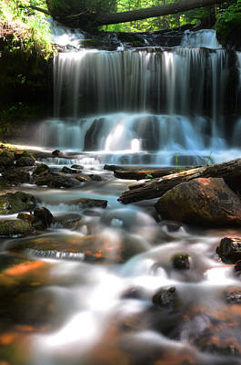 Waterfall Wall Art - Photograph - Lwv60016 by Lee Wolf Winter