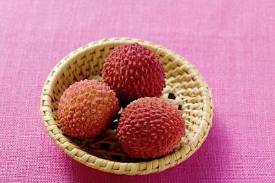 Lychees In Basket Art Print