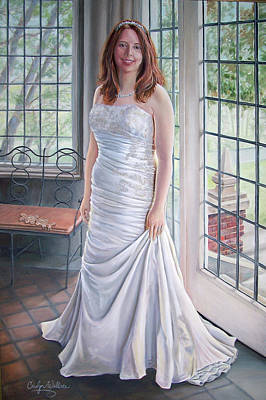 Painting - Lydia's Wedding Portrait by Carolyn Coffey Wallace