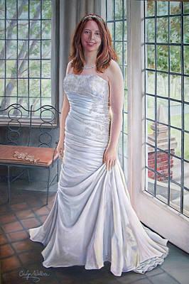 Lydia's Wedding Portrait Original by Carolyn Coffey Wallace